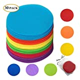 """Classroom Magic Mark Its Sitting Carpet Spots to Educate, Pack of 30 - 5"""" Rug Circles Marker Dots for Preschool, Kindergarten, and Elementary Teachers: more info"""