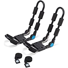 Universal Kayak Carrier Roof Rack by Vault Cargo – Set of Two J-Bar Racks that mount to your vehicle's roof rack cross bars. Great for carrying your canoe, SUP and kayaks on your SUV, car or truck.