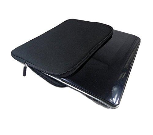 Black Neoprene Carrying Sleeve Case Breifcase Cover for Samsung Galaxy Tab S3 S2 9.7 inch / Asus Transformer Mini T103 10.1 / ZenPad 3S 10 / LG G Pad III 10.1 FHD 10.1 / Lenovo Yoga Book 10.1