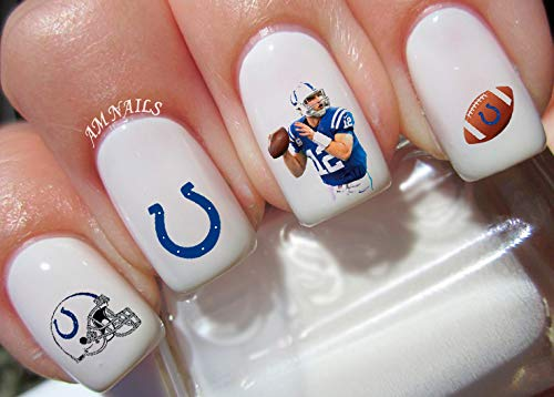 (Indianapolis Colts Water Nail Art Transfers Stickers Decals - Set of 52)