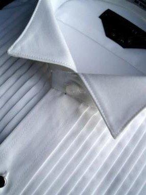 Neil Allyn Men's Tuxedo Shirt – 100% Cotton 1/4 Inch Pleat Wing Collar