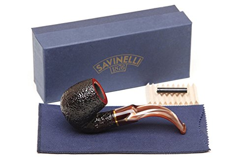 Savinelli Italian Tobacco Smoking Pipes, Roma Rusticated 614 ()
