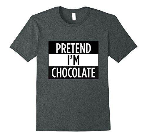 M&m Costume Chocolate Dark (Mens Pretend I'm A Chocolate - Funny Costume T-Shirt Medium Dark)