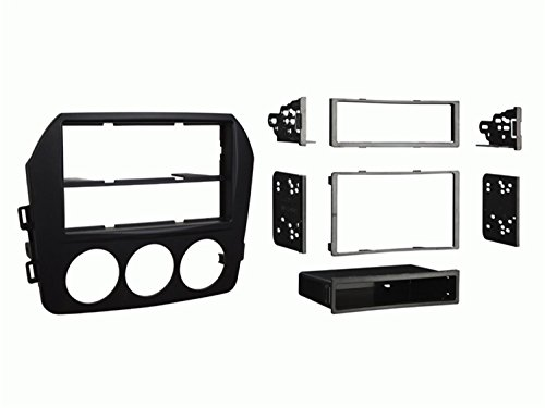 Metra 99-7519B Mazda Miata Installation Dash Kit for Single DIN or Double DIN/ISO Radios, Black (Miata Radio Installation Kit)