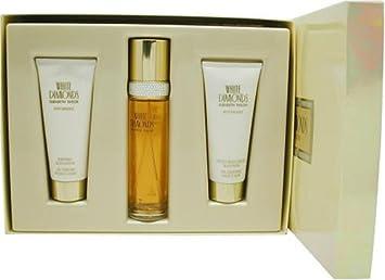 White Diamonds by Elizabeth Taylor for Women, Set Eau De Toilette Spray 3.3 Ounce, Body Lotion 3.3 Ounce, Shower Gel 3.3 Ounce