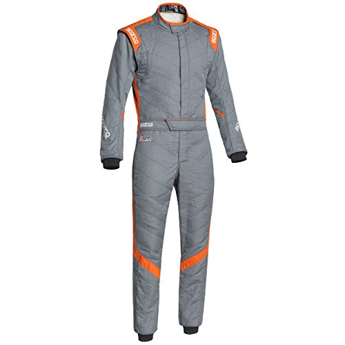 Sparco Victory RS-7 Racing Suit 0011277H (Size: 54, Grey/Orange) -