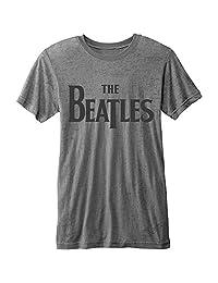 Beatles Men's Drop T Logo T-Shirt Grey