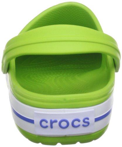 Crocs Unisex Crocband Verstopt Volt Groen / Varsity Blauw
