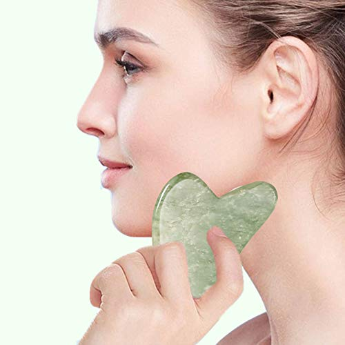 Ysrisny Jade Roller for Face and Gua Sha Set Face Roller Natural Jade Stone for Anti Aging,Eye Puffiness Wrinkles…