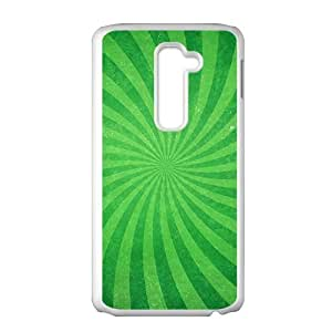 Green rotation pattern fashion phone case for LG G2