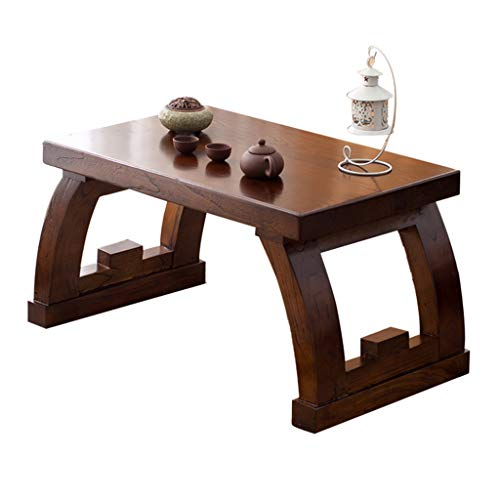(Coffee Tables Bay Window Table Tea Table Low Table Wooden Square Table Living Room Sofa Table Bedroom Desk Balcony Tatami Tea Table (Color : Brown, Size : 704540cm))