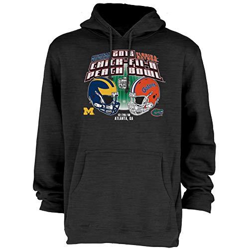 Michigan Wolverines Bowl - Elite Fan Shop Florida Vs Michigan Peach Bowl Hooded Sweatshirt 2018 Charcoal - XXL