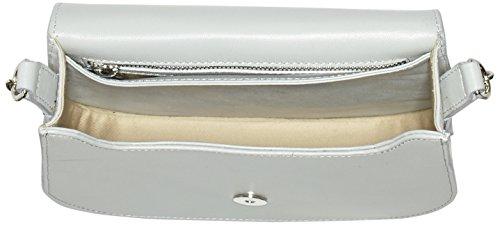 kaviar gauche Petite Bag Plain, Borsa a spalla Donna Grau (Grey/Silver)