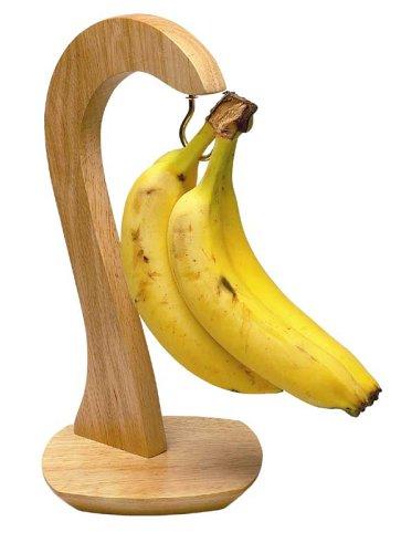 T& G Porta banane in legno naturale di hevea T&G Woodware Ltd 10423