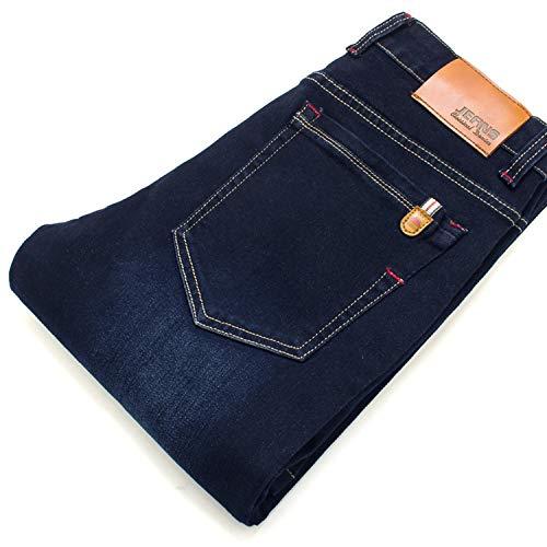 InnovativeVersionSin 2019 New Spring Cotton Denim Trousers Soft Mens Pants,Navy ()