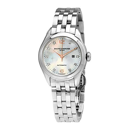 Baume and Mercier Clifton Mother of Pearl Diamond Dial Steel Ladies Watch 10151
