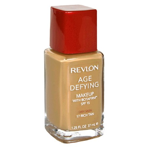 Revlon Age Defying Makeup with Botafirm, SPF 15, Dry Skin, Rich Tan 17, 1.25 Ounce