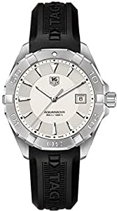 TAG Heuer Aquaracer Silver Dial on Black Rubber Strap WAY1111.BT0710