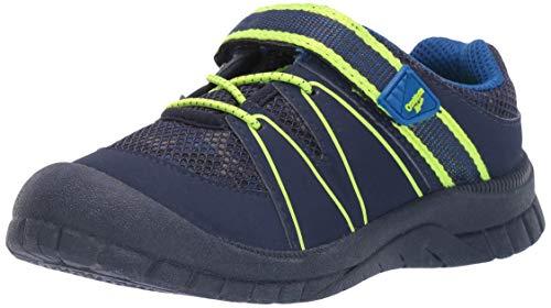 OshKosh B'Gosh Boy's Xavi Athletic Bumptoe Sneaker, Navy, 4 M US Toddler
