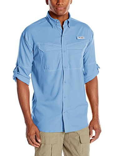 Columbia Low Drag Offshore Long Sleeve Shirt, White Cap, Large