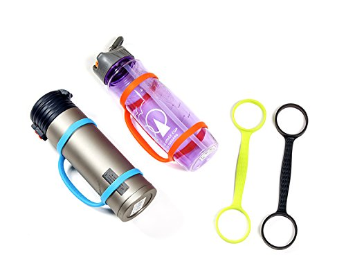 AOQING Water Bottle Carrier Grip for Running Walking Hiking, Bike, Gym, Jogging and Other Outdoor Activities, Fit Most Sports or Plastic Bottles. (Pack of 4)