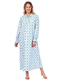 Patricia Lingerie Women's 100% Cotton Flannel Print Long Sleeve Nightgown
