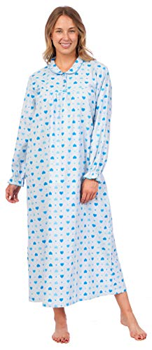 7a553bac9c Pink Lady Women s 100% Cotton Flannel Print Long Sleeve Nightgown