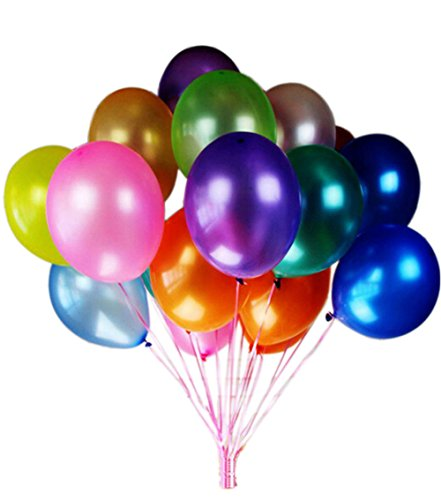 Balloons 10 Inches Latex 180g/bag Pearlized Balloon Assorted Colors ()