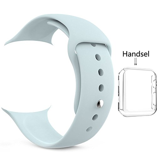 light blue silicone watch straps - 4