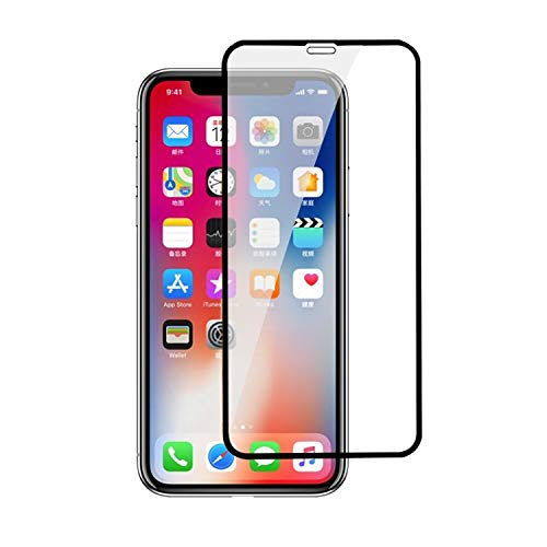 Screen Protector for iPhone X, 5D Tempered Glass Full Curved, Anti-Scratch, Anti-Shock Protection