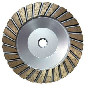 Turbo Coarse Stone Cup Wheel -- 5''x 5/8thd