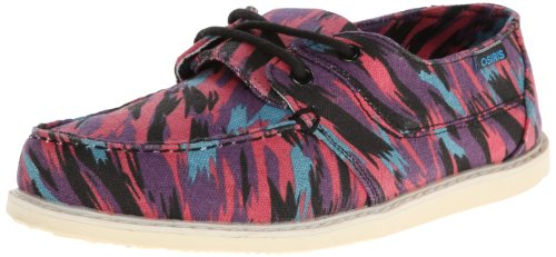 Osiris Women's Yachter Skate Shoe,Black/Pink/Cyan,9 M US