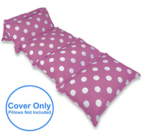 Price comparison product image BeanBob Pillow Case Lounger (King Size, Pink w/Polka Dots)