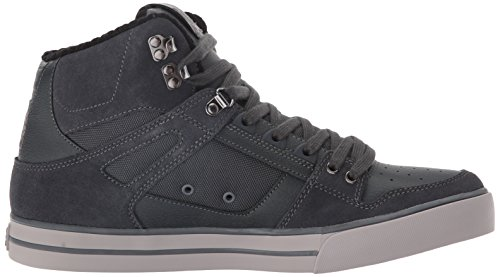 DC Men's Spartan High WC SE Skateboarding Shoe, Grey, 8 M US