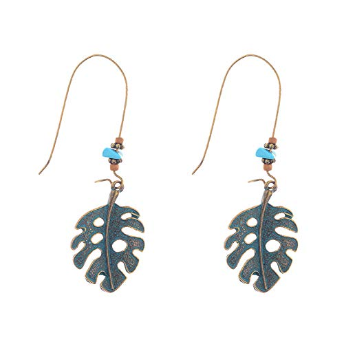 ZHUBAOO Fashion Accessories Women Earring Leaf Pendant Earrings Jewelry ()