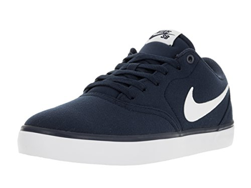 Nike Herren SB Check Solar CNVS Sneakers Blau (Midnight Navy/White 001)