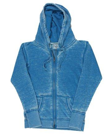 Ladies ZEN Full Zip Hooded Sweatshirt - Oceanberry Blue