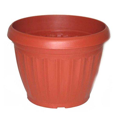 Plastic Garden Planter 10.8in, Case of 48 by DollarItemDirect