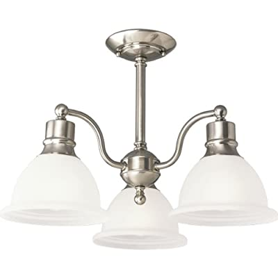 Progress Lighting P3663 Madison Three-Light Semi-Flush Mount Ceiling Fixture wit,