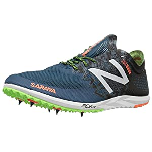 New Balance Men's 5000v3 Cross-Country-Running-Shoes, Moroccan Blue/Black, 12 D US