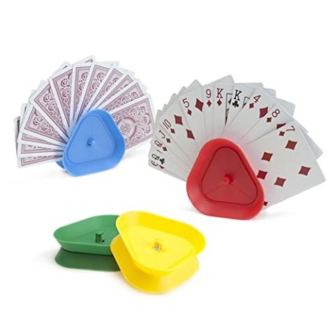 Brybelly Triangle Shaped Hands-Free Playing Card Holder - Game Card Holder