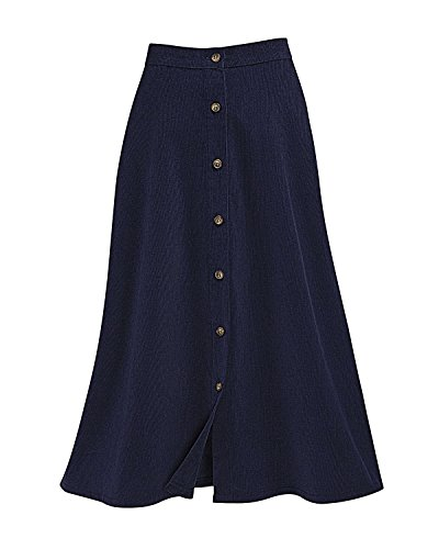 National Button Front Corduroy Skirt Navy product image