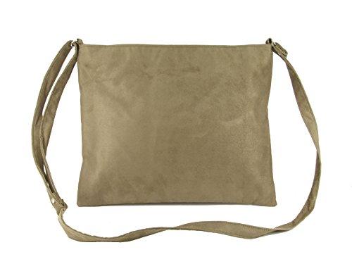 Shoulder Bag Beige body Faux Hot Suede LONI Cross Taupe wR8qAXYI1W