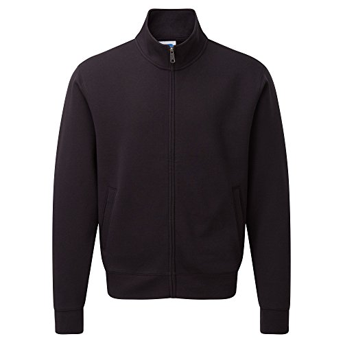 Russell Mens Authentic Full Zip Sweatshirt Jacket (M) (Black)