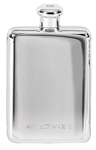 Silver 3oz Screw Top Hip Flask by Orton West by Orton West