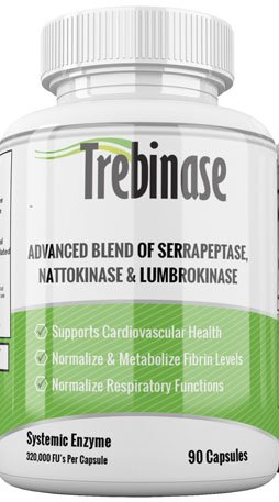 Trebinase 320,000 FU's Per Capsule (Serrapeptase, Nattokinase, Lumbrokinase) Most Potent Enzyme Available by Trebinase