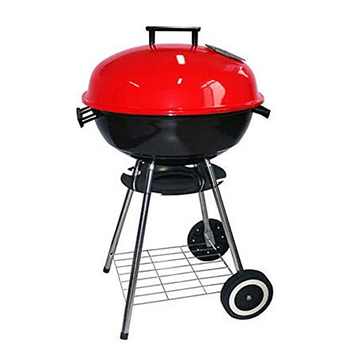 Nclon Charcoal smoker Barbecue grill Mini kettle barbeque Smokeless,Stainless steel Bbq Portable Lightweight Portable grill Household Outdoor Garden Beach Camping 2-4 People-17 inch 43.572cm (Best Barrel Charcoal Grills)
