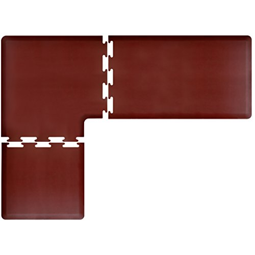 WellnessMats PuzzlePiece Collection L Series Burgundy Anti-Fatigue Mat, 8 x 6 Foot by WellnessMats