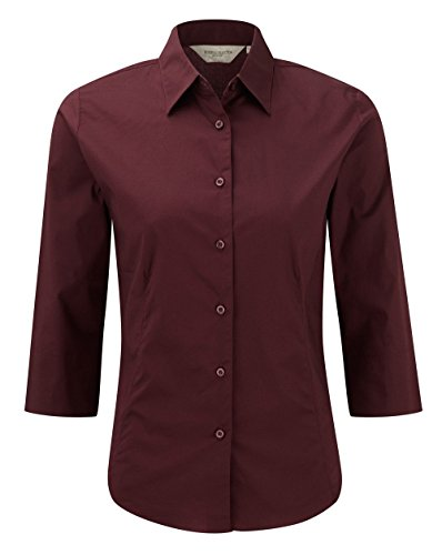 Russell Collection - Camisas - manga 3/4 - para mujer Red - Port