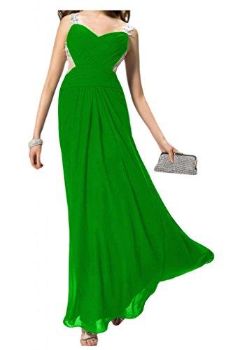 Novia encantadora dos-Traeger Toscana Rueckenfrei por la noche vestidos de gasa largo bola de vestidos de fiesta Verde